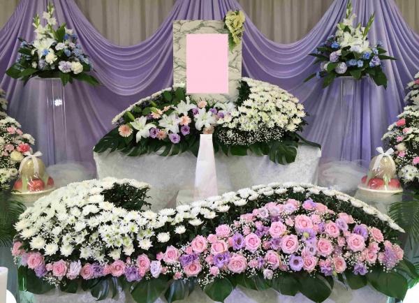調布家族ホール花祭壇施行例