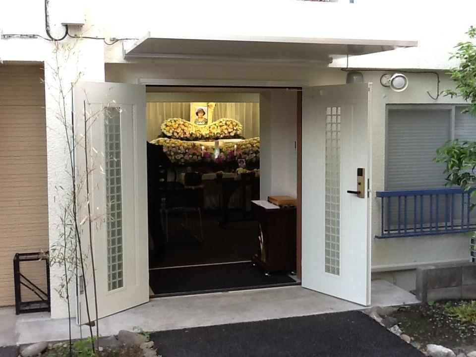 仙川斎場式場入口