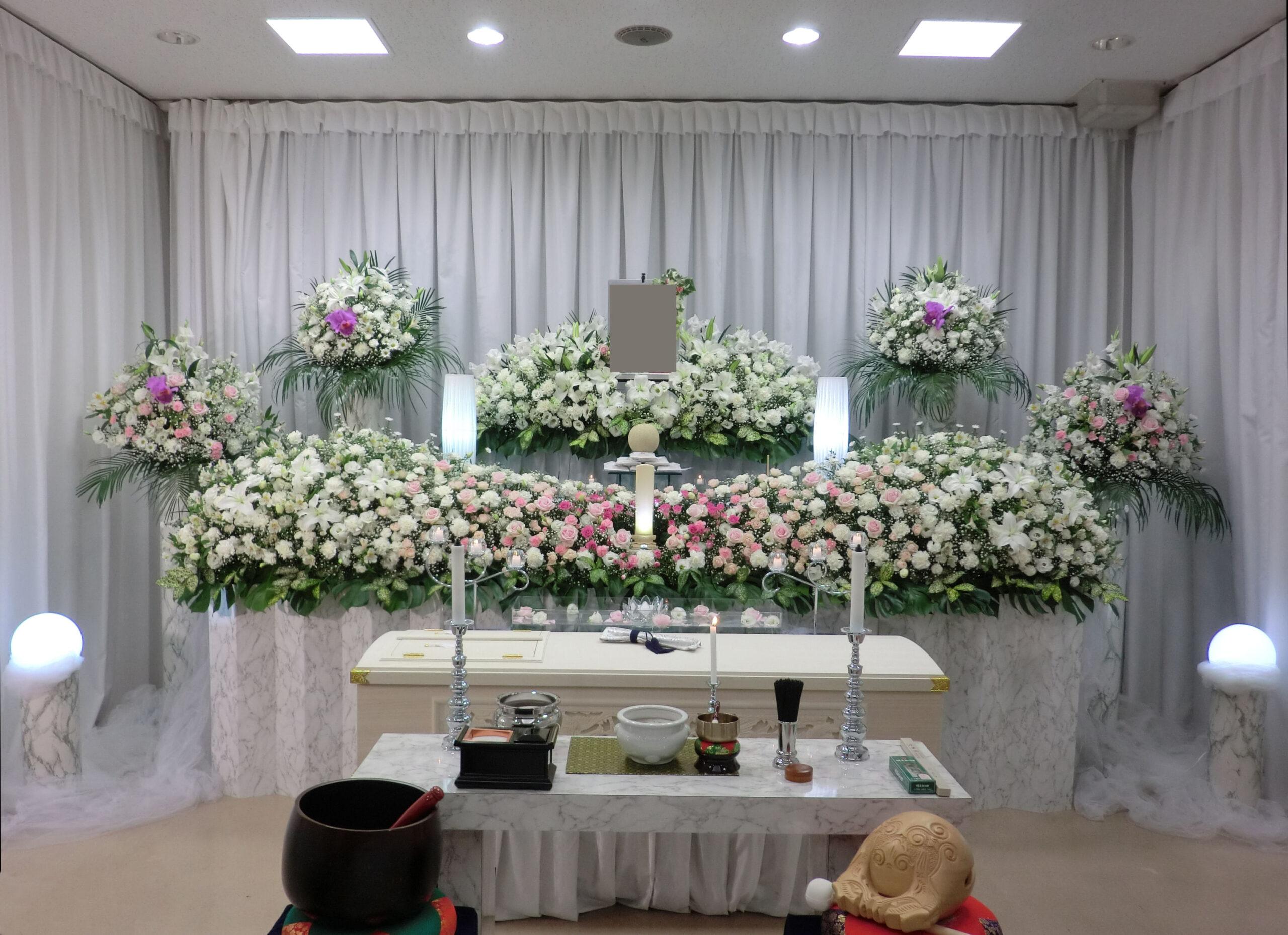 代々幡斎場花祭壇施行例